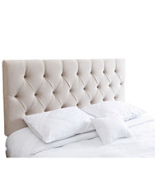 Jenelle Tufted Velvet Full/Queen Headboard, Quick Ship