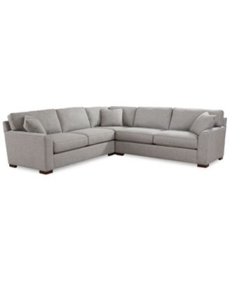 "Carena 3-Pc. Fabric ""L"" Shaped Sectional, Created for Macy's"
