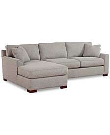Carena 2-Pc. Fabric Reversible Chaise Sectional Sofa, Created for Macy's