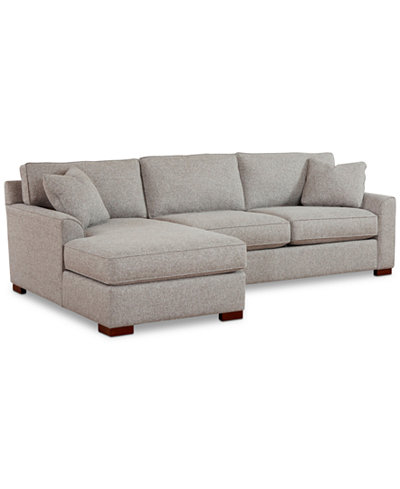 Carena 2-Pc. Fabric Sectional with Chaise, Created for Macy's