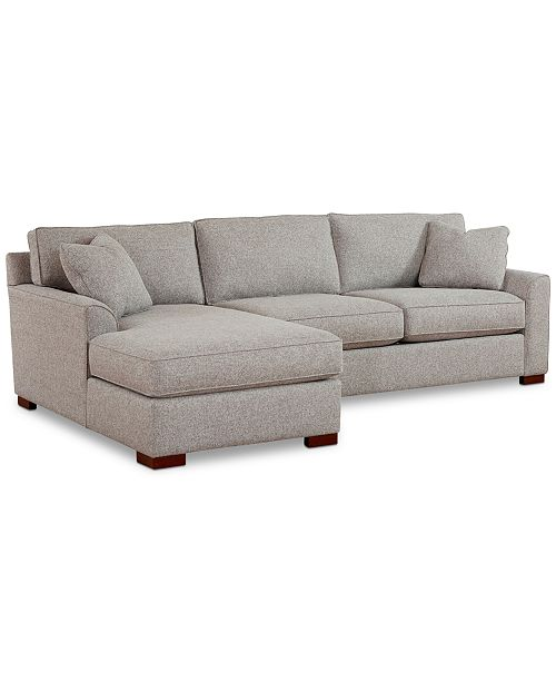 Carena 2-Pc. Fabric Chaise Sectional Sofa, Created for Macy\'s