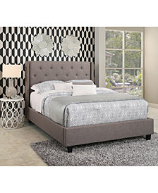 Michael Tufted Upholstered Platform Bed Collection, Quick Ship