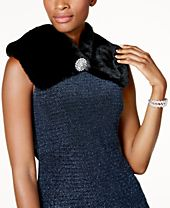 INC International Concepts Faux Fur Scarf Collar, Created for Macy's
