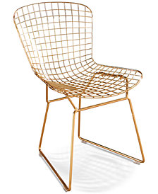 Alessa Iron Dining Chair, Quick Ship