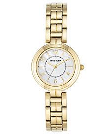 Anne Klein Women's Gold-Tone Link Bracelet Watch 28mm