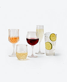 CLOSEOUT! The Cellar Basics 12-Pc Glassware Sets, Created for Macy's