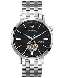 Bulova Men's Automatic Stainless Steel Bracelet Watch 41mm