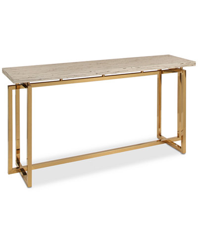 Corinne Stainless Steel Sofa Table, Quick Ship