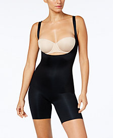 SPANX Women's  Power Conceal-He Open-Bust Mid-Thigh Bodysuit 10133R