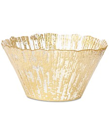 Vietri Rufolo Glass Gold Collection Small Deep Bowl