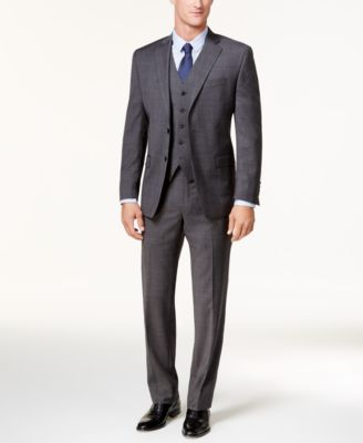 3-Piece Suits Mens Suits: Blue, Black, Gray - Macy's