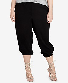 RACHEL Rachel Roy Trendy Plus Size Cropped Jogger Pants
