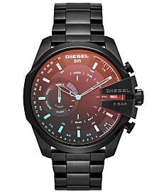 Diesel Men's Mega Chief Black Stainless Steel Bracelet Hybrid Smart Watch 48mm