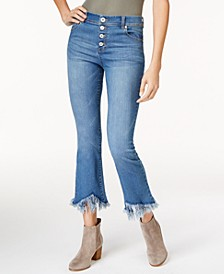 INC Fringe-Trim Curvy Cropped Jeans, Created for Macy's