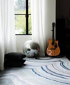 Novogratz by Momeni Delmar DEL10 Blue 5' x 8' Area Rug