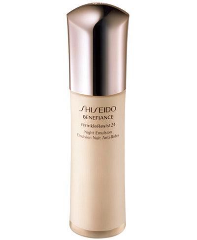 Shiseido Benefiance WrinkleResist24 Night Emulsion, 2.5 oz