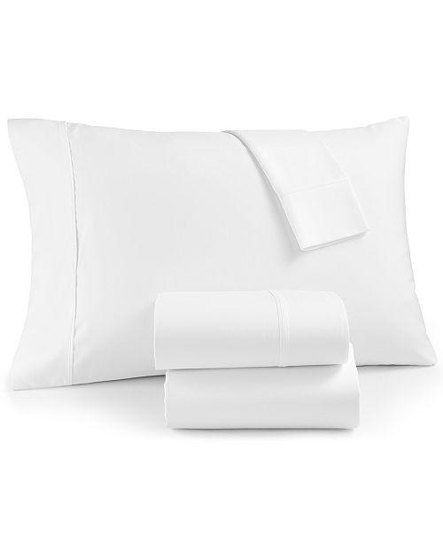 AQ Textiles Marlow 4-Pc Queen Sheet Set, 1800 Thread Count Cotton Blend