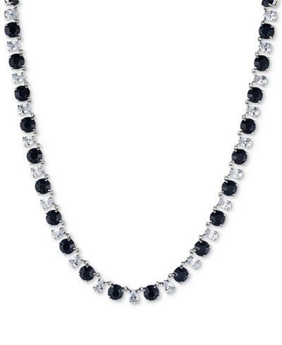 Carolee Silver-Tone Stone & Crystal All-Around Collar Necklace
