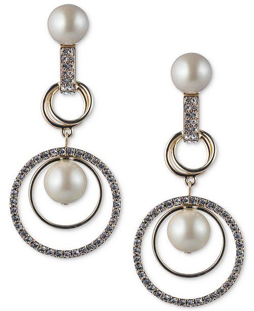 c837c5a09 ... Orbital Drop Earrings; Carolee Gold-Tone Imitation Pearl & Pavé  Orbital ...