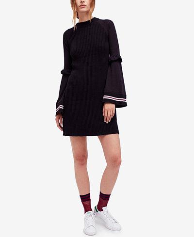Free People Bell Sleeve Mini Sweater Dress Dresses