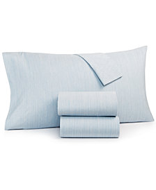 CLOSEOUT! Hotel Collection Cotton 525-Thread Count 4-Pc. Yarn-Dyed Queen Sheet Set, Created for Macy's