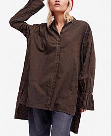 Free People Lakehouse Cotton Oversized Shirt