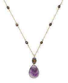 Paul & Pitü Naturally Gold-Tone Stone Pendant Necklace