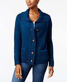 Petite Button-Front Cardigan, Created for Macy's