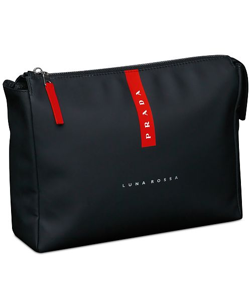 9564f0dd5cb35 Prada Receive a Complimentary Toiletry Bag with any large spray purchase  from the Prada Luna Rossa