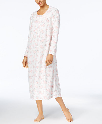 Charter Club Printed Fleece Nightgown, Created for Macy's