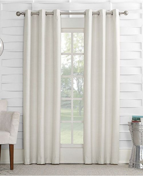 "Sun Zero Oscar 40"" x 63"" Thermal Lined Grommet Curtain Panel"