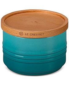 12-Oz. Canister with Wood Lid