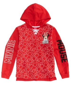 Disneys Minnie Mouse Hooded Sweatshirt Big Girls (716)