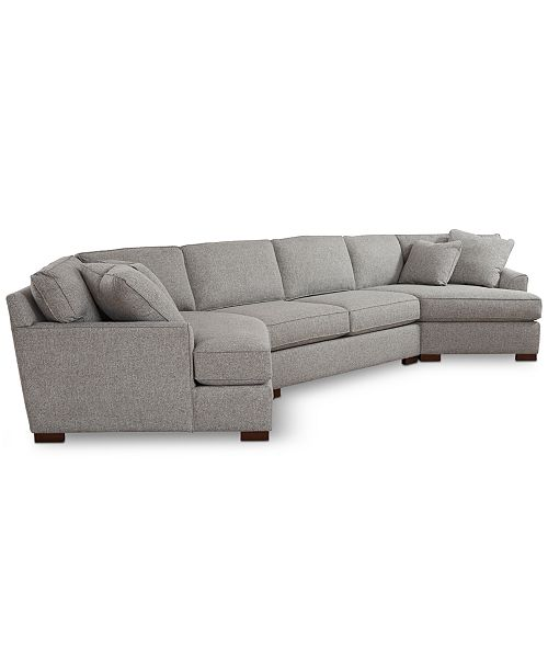 Furniture Carena 3 Pc Fabric Sectional With Apartment