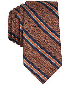 Tallia Men's Welsh Stripe Slim Silk Tie