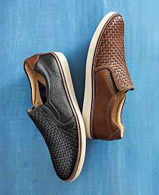 Johnston & Murphy Men's McGuffey Woven Slip-On Loafers