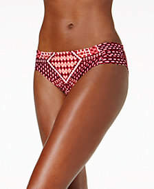 Kenneth Cole Hidden Paradise Ruched Bikini Bottoms