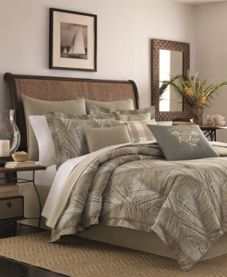 CLOSEOUT! Raffia Palms Reversible 4-Pc. King Comforter Set