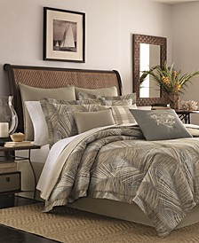CLOSEOUT! Raffia Palms Reversible 4-Pc. Queen Comforter Set