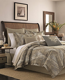 Tommy Bahama Home Raffia Palms Cotton Reversible 3-Pc. Full/Queen Duvet Cover Set