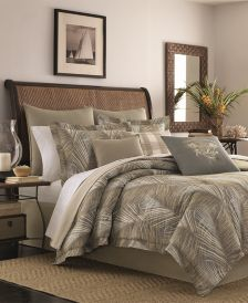 CLOSEOUT! Tommy Bahama Home Raffia Palms Reversible 4-Pc. Queen Comforter Set