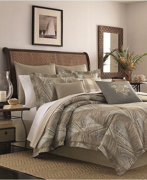 Tommy Bahama Home  CLOSEOUT! Raffia Palms Reversible 4-Pc. King Comforter Set