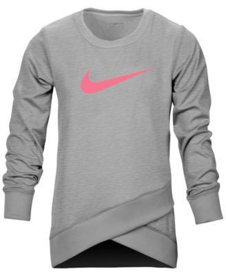 Nike Dri,FIT Crossover Logo Sweatshirt, Little Girls