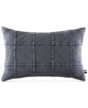 Tommy Hilfiger Dusted Indigo 12 x 20 Decorative Pillow Bedding