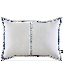 "Tommy Hilfiger Rip and Repair 12"" x 18"" Decorative Pillow"