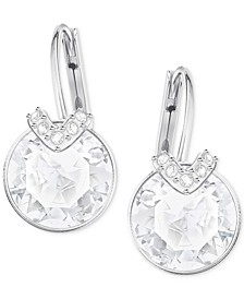 Clear & Colored Crystal Drop Earrings