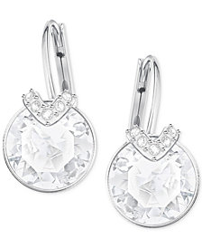 Swarovski Clear & Colored Crystal Drop Earrings