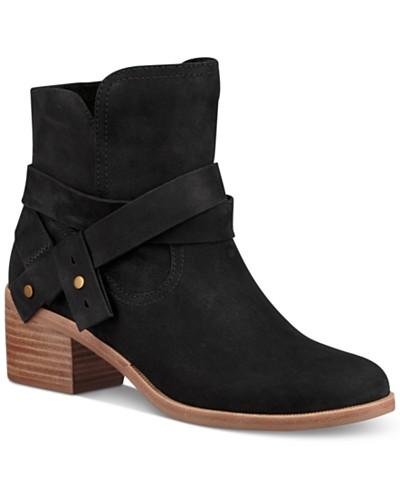 UGG® Elora Block-Heel Booties