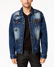 Sean John Men's Legacy Stretch Denim Trucker Jacket, Created for Macy's