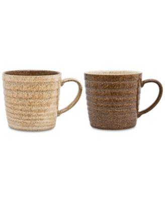 Studio Craft 2-Pc. Alt Ridged Mug Set